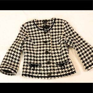 Houndstooth Context Size 4 Jacket  Button Up